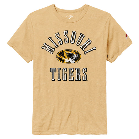 Missouri Tigers Heather Gold Victory Falls Short Sleeve Tee