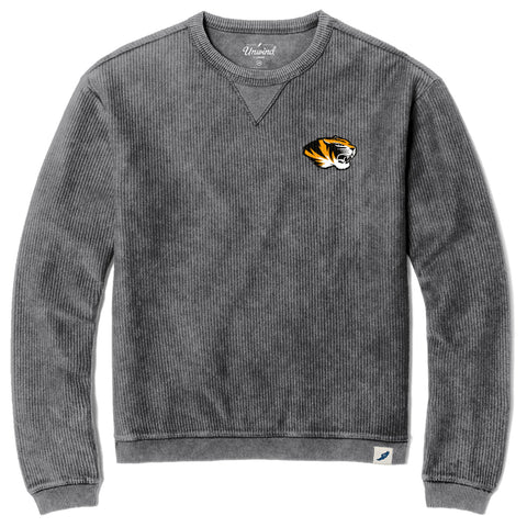 Missouri Tigers Unisex Vanilla Timber Crew Corded Sweatshirt