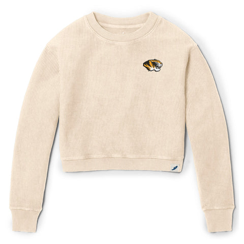 Missouri Tigers Women's Vanilla Timber Crop Crew