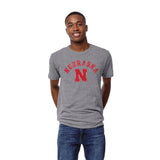 Nebraska Cornhuskers Heather Gray Victory Falls Short Sleeve Tee