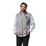 Nebraska Cornhuskers Men's Heather Grey Saranac Full Zip Vest