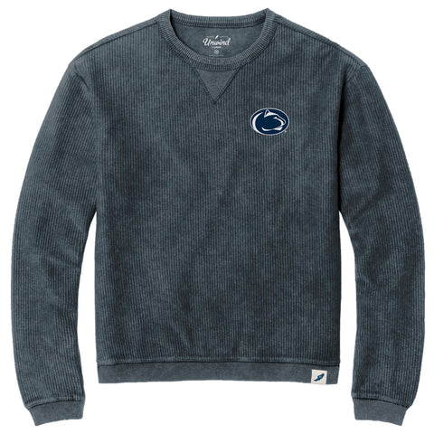 Penn State Nittany Lions Unisex Denim Timber Crew Corded Sweatshirt