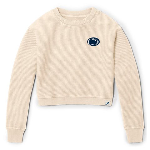 Penn State Nittany Lions Women's Vanilla Timber Crop Crew