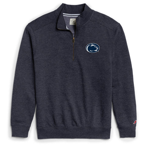 Penn State Nittany Lions Men's Heather Navy Heritage 1/4 Zip Sweatshirt