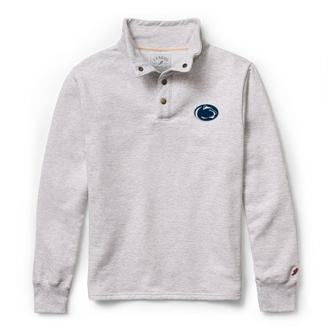 Penn State Nittany Lions Men's Ash Grey 1636 Snap Up Sweatshirt