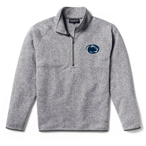 Penn State Nittany Lions Men's Heather Grey Saranac 1/4 Zip Sweater