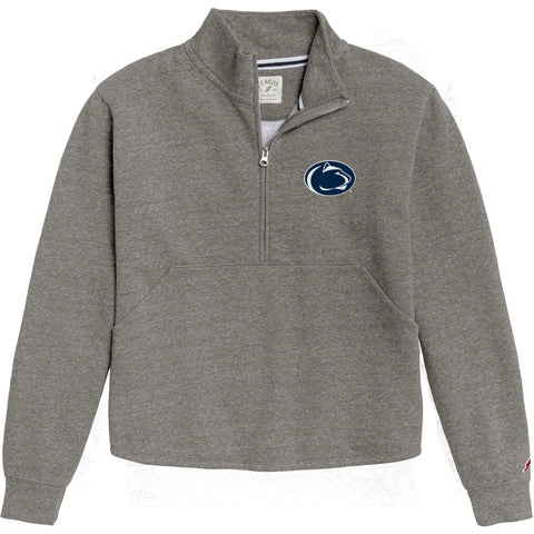 Penn State Nittany Lions Women's Heather Grey Victory Springs Half Zip Pullover