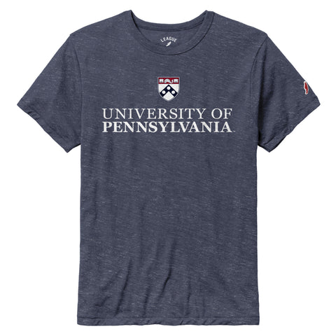 Pennsylvania Quakers Heather Navy Victory Falls Short Sleeve Tee