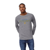 Pittsburgh Panthers Men's Heather Grey Victory Falls Long Sleeve Tee