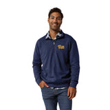 Pittsburgh Panthers Men's Heather Royal Blue Heritage 1/4 Zip Sweatshirt