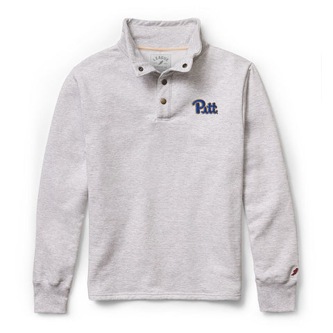 Pittsburgh Panthers Men's Ash Grey 1636 Snap Up Sweatshirt