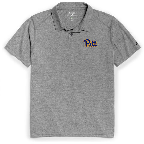 Pittsburgh Panthers Men's Heather Grey Reclaim Polo Tee