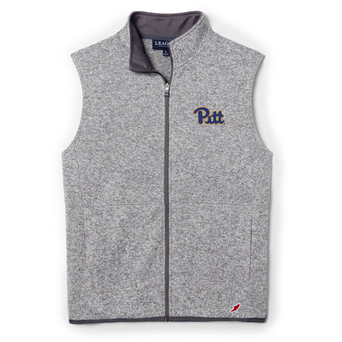 Pittsburgh Panthers Men's Heather Grey Saranac Full Zip Vest