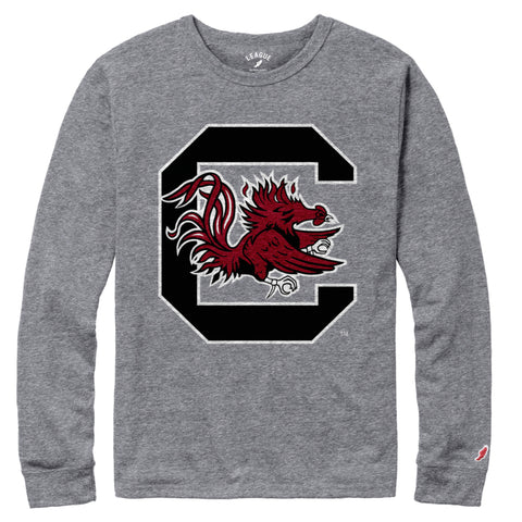 South Carolina Gamecocks Men's Heather Grey Victory Falls Long Sleeve Tee