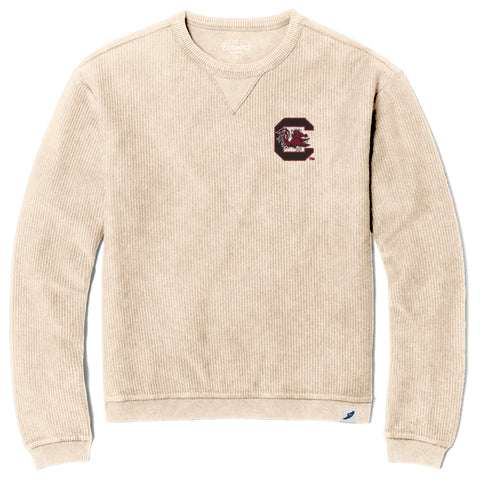 South Carolina Gamecocks Unisex Vanilla Timber Crew Corded Sweatshirt