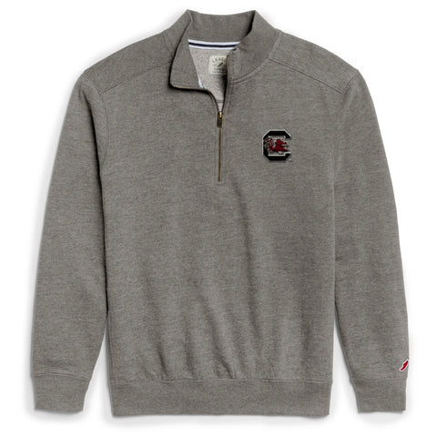 South Carolina Gamecocks Men's Heather Grey Heritage 1/4 Zip Sweatshirt