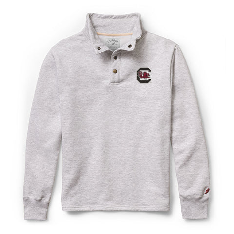 South Carolina Fighting Gamecocks Men's Ash Grey 1636 Snap Up Sweatshirt
