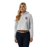 South Carolina Gamecocks Women's Ash Grey 1636 Cropped Sweatshirt