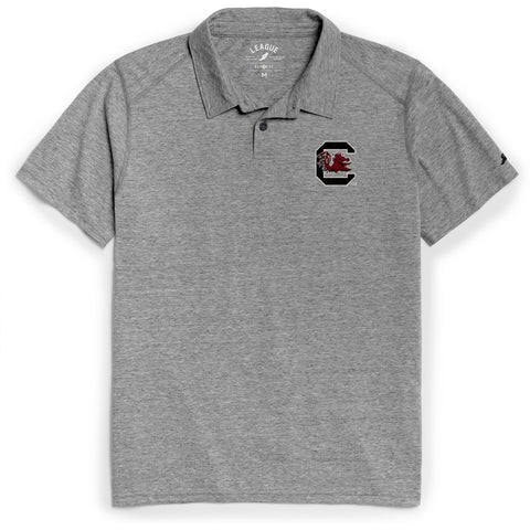 South Carolina Gamecocks Men's Heather Gray Reclaim Polo Tee
