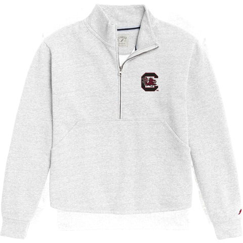South Carolina Gamecocks Women's White Victory Springs Half Zip Pullover