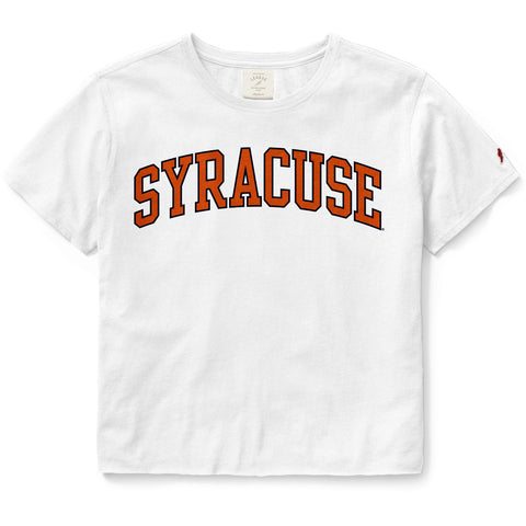 Syracuse Orange Women's White Clothesline Cotton Crop Tee