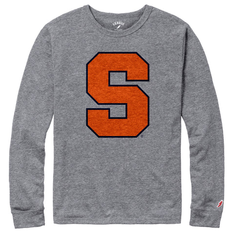 Syracuse Orange Men's Heather Gray Victory Falls Long Sleeve Tee
