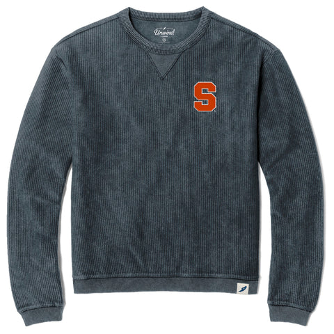 Syracuse Orange Denim Timber Crew Corded Sweatshirt