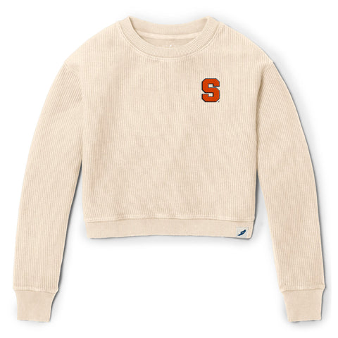 Syracuse Orange Women's Vanilla Timber Crop Crew