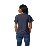 Syracuse Orange Women's Heather Navy Intramural Boyfriend V Tee