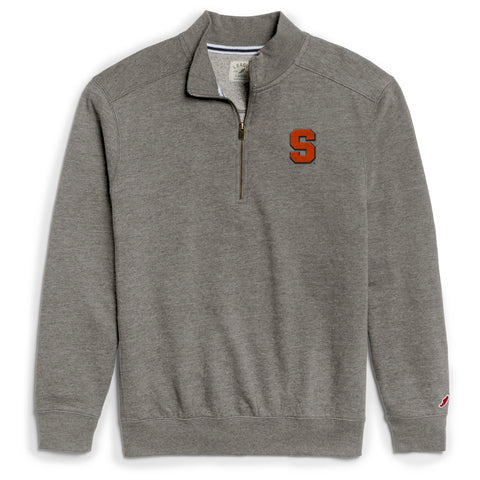 Syracuse Orange Men's Heather Gray Heritage 1/4 Zip Sweatshirt