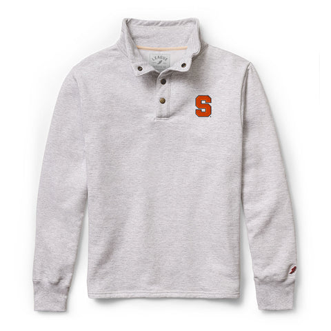 Syracuse Orange Men's Ash Gray 1636 Snap Up Sweatshirt