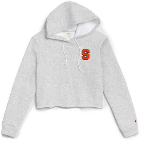 Syracuse Orange Women's Ash Gray 1636 Cropped Sweatshirt