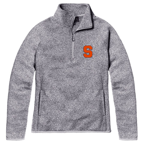 Syracuse Orange Women's Heather Gray Saranac Quarter Zip