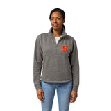Syracuse Orange Women's Heather Grey Victory Springs Half Zip Pullover