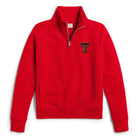 Texas Tech Red Raiders Women's Red Academy Quarter Zip Sweatshirt