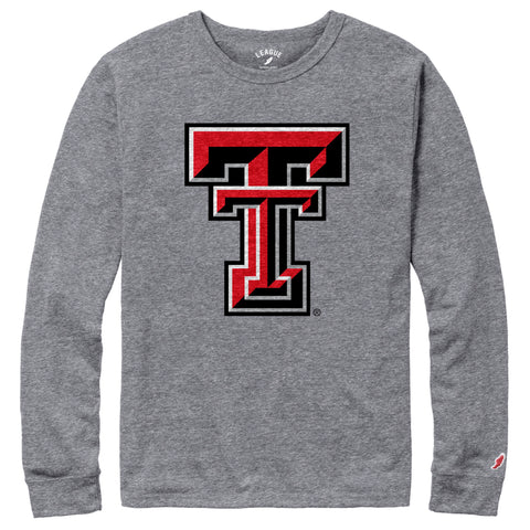 Texas Tech Red Raiders Men's Heather Grey Victory Falls Long Sleeve Tee