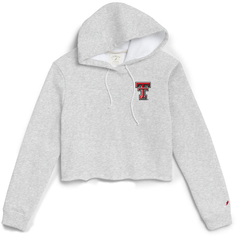 Texas Tech Red Raiders Women's Ash Gray 1636 Cropped Sweatshirt