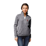 Texas Tech Red Raiders Women's Heather Grey Saranac 1/4 Zip Sweater