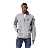 Texas Tech Red Raiders Men's Heather Grey Saranac 1/4 Zip Sweater