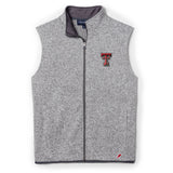 Texas Tech Red Raiders Men's Heather Grey Saranac Full Zip Vest