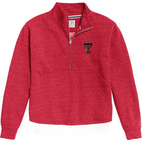 Texas Tech Red Raiders Women's Heather Red Victory Springs Half Zip Pullover