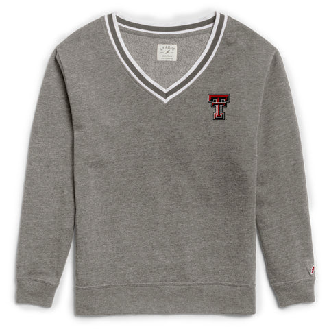 Texas Tech Red Raiders Women's Heather Grey Victory Springs V Crew