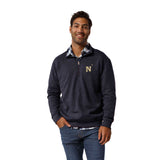 Navy Midshipmen Men's Heather Navy Heritage 1/4 Zip Sweatshirt