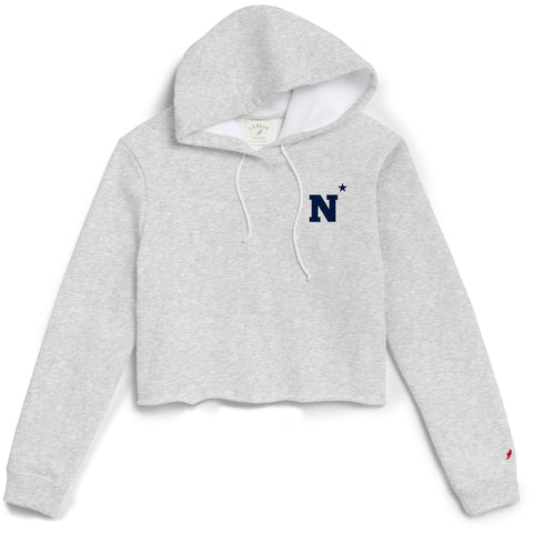 Navy Midshipmen Women's Ash Gray 1636 Cropped Sweatshirt