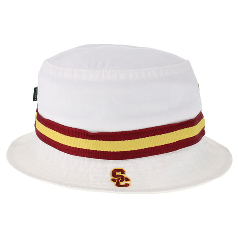 USC Trojans White Relaxed Twill Bucket Hat