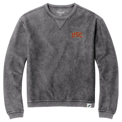 USC Trojans Unisex Graphite Timber Crew Corded Sweatshirt