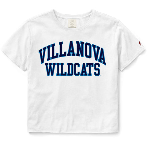 Villanova Wildcats Women's White Clothesline Cotton Crop Tee