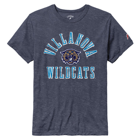 Villanova Wildcats Heather Navy Victory Falls Short Sleeve Tee