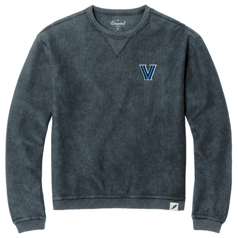 Villanova Wildcats Unisex Denim Timber Crew Corded Sweatshirt