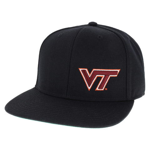 Virginia Tech Hokies Black High Pro Flat Brim Adjustable Hat